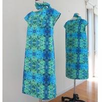 オリジナルワンピース Bi's Closet フレンチスリーブ JUNブル―&グリーン