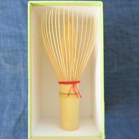 大和國高山茶筅、(Bi's Japanese Giftsオリジナル)白竹単色朱色、谷村丹後