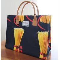 イタリアンヴィンテージ生地・パスタ柄ハンドメイドバッグ、日本製