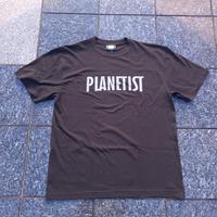 映画「PLANETIST」Tシャツ(墨色) 英語ロゴ (シルバー)ver.