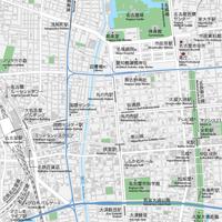 愛知 名古屋・栄・久屋大通・大須 ベクター地図データ(eps) 日本語/英語 並記版