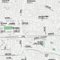 東京 中野・新井薬師 ベクター地図データ(eps) 中国語(繁体字) / 英語 並記版