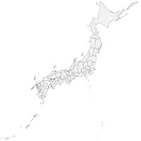 無料● 日本地図 フリー素材
