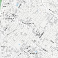 東京 原宿・表参道・青山 ベクター地図データ(eps) 日本語