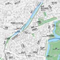 東京 飯田橋・市ヶ谷・四ツ谷 ベクター地図データ(eps) 繁体語/英語 並記版