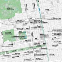 北海道 札幌 ベクター地図データ(eps) 繁体語/英語 並記版