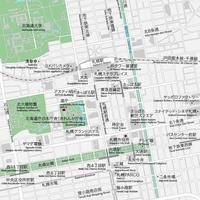 北海道 札幌 ベクター地図データ(eps) 日本語/英語 並記版