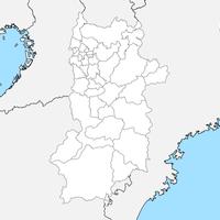 無料●奈良県 白地図 市区町村別 フリー素材