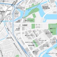 神奈川 横浜みなとみらい ベクター地図データ(eps) 日本語