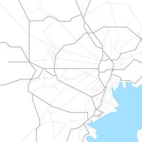 無料●東京都 鉄道路線図 フリー素材