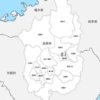 滋賀県 市区町村別 白地図 PDFデータ