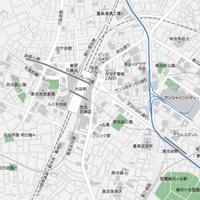 東京 池袋 ベクター地図データ(eps) 日本語