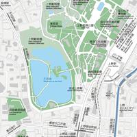 東京 上野 ベクター地図データ(eps) 日本語/英語 並記版