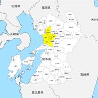 熊本県 市区町村別 白地図 PDFデータ