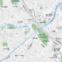 東京 王子・飛鳥山 ベクター地図データ(eps) 日本語