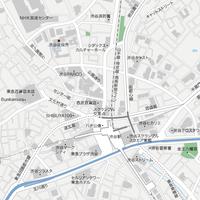 東京 渋谷 ベクター地図データ(eps) 日本語