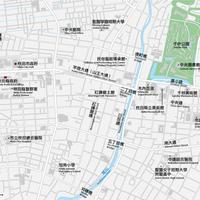 秋田 秋田駅周辺 ベクター地図データ(eps) 中国語(繁体字)/ 英語 並記版