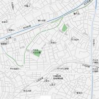 東京 幡ヶ谷・代々木上原 ベクター地図データ(eps) 日本語