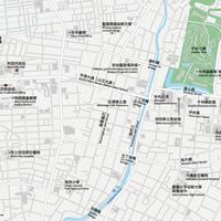 秋田 秋田駅周辺 ベクター地図データ(eps) 繁体語/英語 並記版
