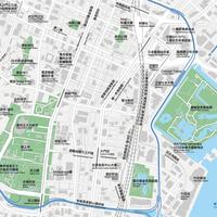 東京 新橋・浜松町 ベクター地図データ(eps) 繁体語/英語 並記版