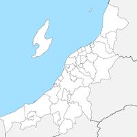 無料●新潟県 白地図 市区町村別 フリー素材