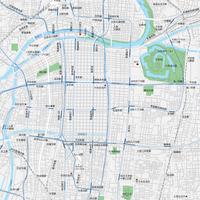大阪広域 梅田・天王寺 ベクター地図データ(eps) 日本語