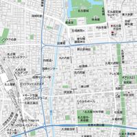 愛知 名古屋・栄・久屋大通・大須 ベクター地図データ(eps) 日本語