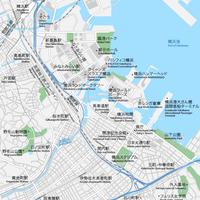 神奈川 横浜 ベクター地図データ(eps) 日本語/英語 並記版