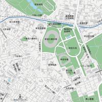 東京 神宮外苑 ベクター地図データ(eps) 日本語