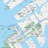 東京 豊洲・お台場 ベクター地図データ(eps) 日本語