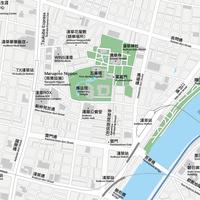 東京 浅草 ベクター地図データ(eps)  中国語(繁体字) / 英語 並記版