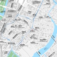東京 東京駅・銀座・日本橋 ベクター地図データ(eps) 中国語繁体字 / 英語 並記版