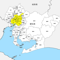 愛知県 市区町村別 白地図 PDFデータ