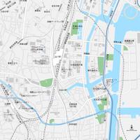 東京 品川 ベクター地図データ(eps) 日本語