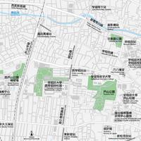 東京 高田馬場・早稲田 ベクター地図データ(eps) 中国語(繁体字) / 英語 並記版
