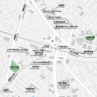 東京 大塚 ベクター地図データ(eps) 中国繁体字 / 英語 並記版