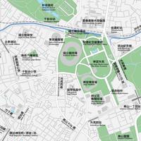 東京 神宮外苑 ベクター地図データ(eps) 繁体語/英語 並記版