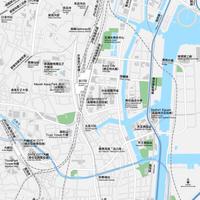東京 品川 ベクター地図データ(eps) 繁体語/英語 並記版