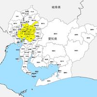 愛知県 市区町村別 白地図データ(eps)