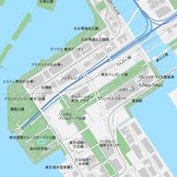 東京 お台場 ベクター地図データ(eps) 日本語