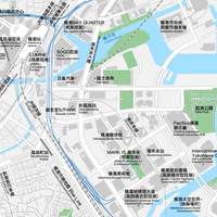 神奈川 横浜みなとみらい ベクター地図データ(eps) 中国語(繁体字) / 英語 並記版