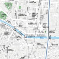 東京 秋葉原 ベクター地図データ(eps) 日本語/英語 並記版