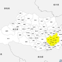 埼玉県 市区町村別 白地図データ(eps)