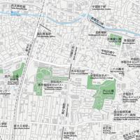 東京 高田馬場・早稲田 ベクター地図データ(eps) 日本語/英語 並記版
