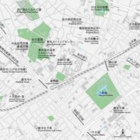 東京 巣鴨・駒込 ベクター地図データ(eps) 日本語/英語 並記版
