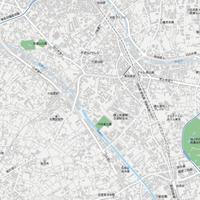 東京 恵比寿・代官山・中目黒 ベクター地図データ(eps) 日本語