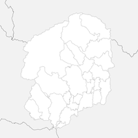 無料●栃木県 白地図 市区町村別 フリー素材