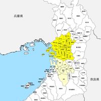 大阪府 市区町村別 白地図データ(eps)