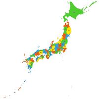 日本全図 都道府県別 形状 ベクター地図データ(eps) 日本語