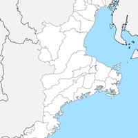 無料●三重県 白地図 市区町村別 フリー素材